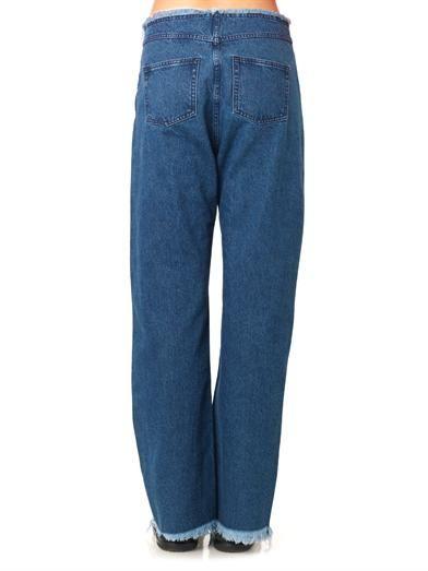 Marques Almeida Frayed-edge low-slung boyfriend jeans