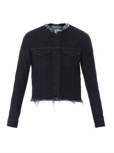 Marques Almeida Collarless denim jacket