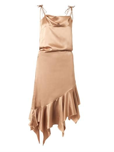 Marques Almeida Satin bias-cut slip dress