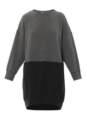 Bi-colour sweatshirt dress