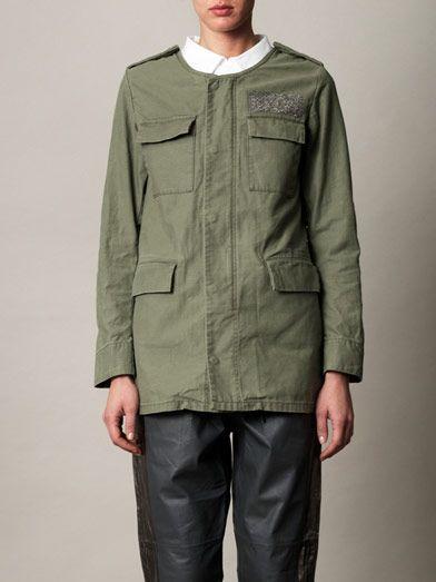 Ar Srpls Swarovski-crystal embellished jacket
