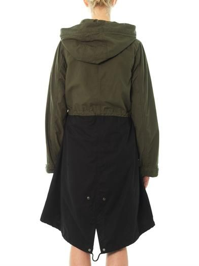 Ar Srpls Colour-block parka coat