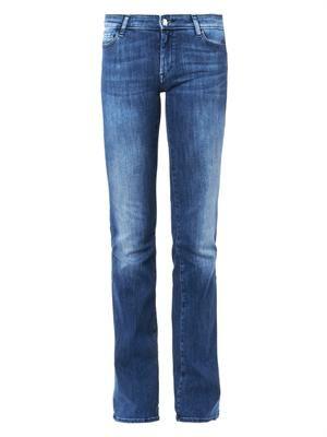 Drake mid-rise flared-leg jeans