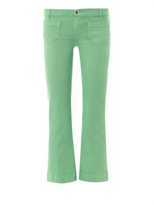 Lord Jim mid-rise cropped flared jeans