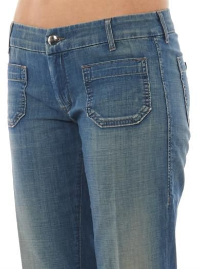 Seafarer Lord Jim mid-rise cropped flared jeans