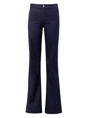 Circe high-rise flared-leg jeans