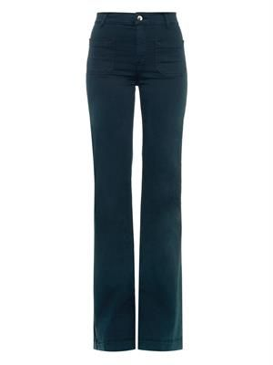 Circe high-rise flared-leg jeans