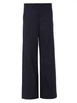 High-rise wide-leg tailored trousers