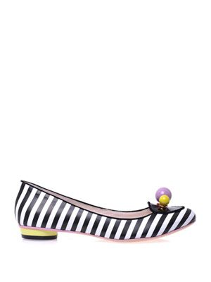 Millie stripe ballet shoes