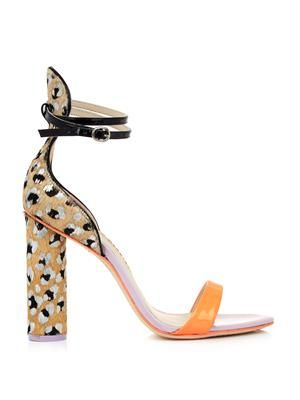 Nicole printed calf-hair sandals