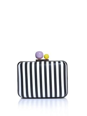 Azealia stripe box clutch