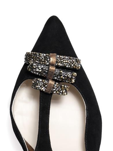 Sophia Webster Eva crystal-embellished suede pumps