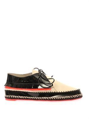 Bonita black pearl leather lace-up shoes