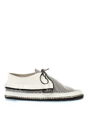 Bonita striped leather lace-up shoes