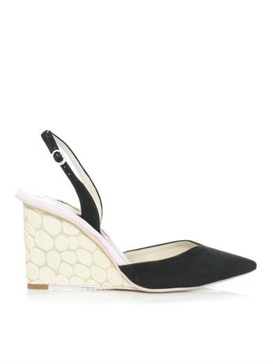 Sophia Webster Lois slingback suede wedges
