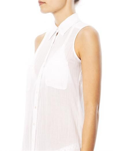 Ondademar Sleeveless cotton shirt dress