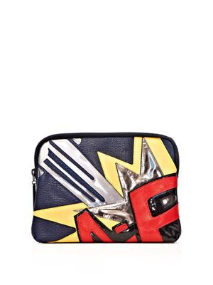 Bang patchwork 31 minute clutch bag