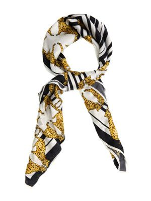 Panther chain silk scarf