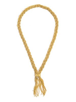 Miki Dora plaited rope gold necklace