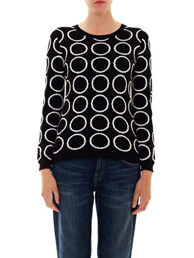 Chinti and Parker Meets Patternity circle intarsia-knit sweater