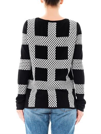 Chinti and Parker Meets Patternity intarsia-knit sweater