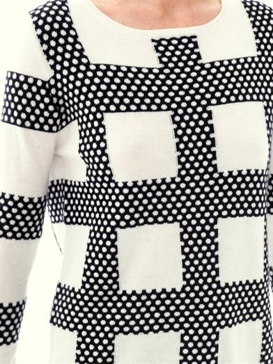 Chinti and Parker Meets Patternity square & spot sweater