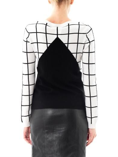 Chinti and Parker Meets Patter Meets Patternity window-pane check sweater