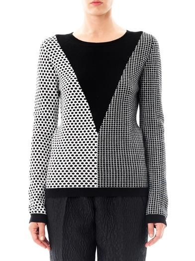 Chinti and Parker Meets Patternity square, dot & triangle sweater