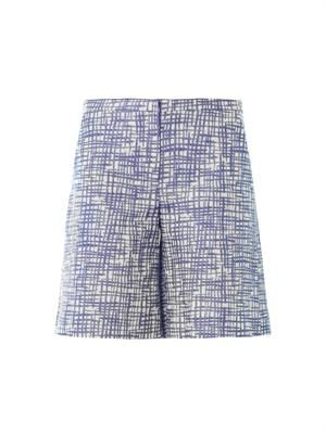 Zigzag jacquard tailored shorts