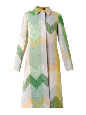 Chevron wool-blend coat