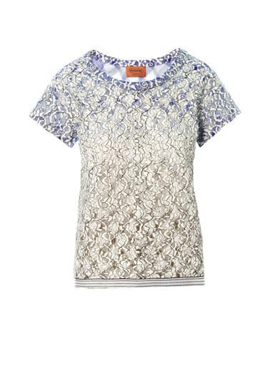 Missoni Lace and zigzag top