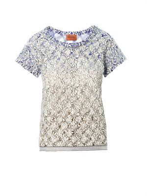 Lace and zigzag top