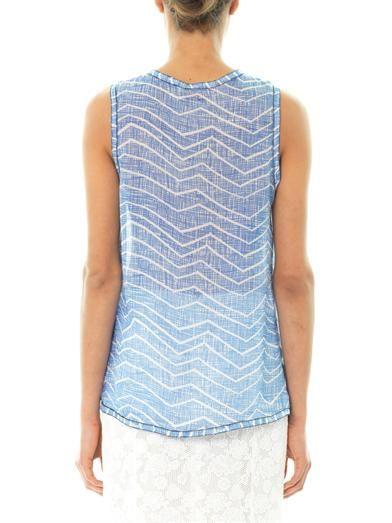 Missoni Zigzag print silk-crepe blouse