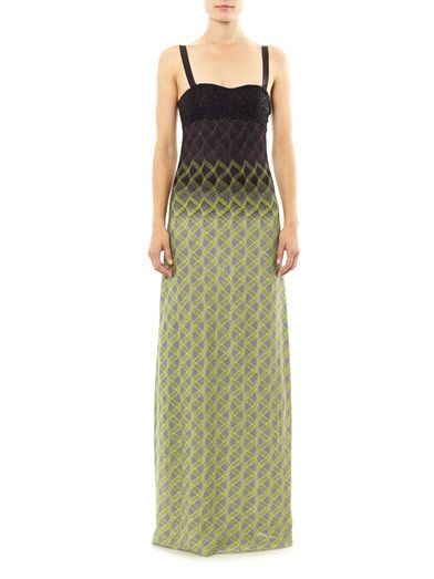 Missoni Embellished bodice strapless dress