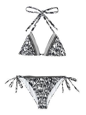 Logo-print bikini