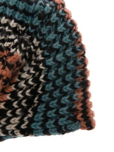 Missoni Chevron cashmere-knit turban