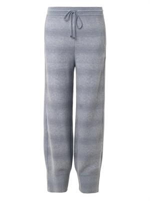 Waffle-knit wool-blend track pants