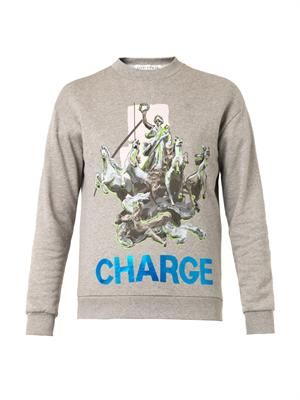 X Laura Brown Charge-print sweatshirt