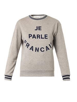 Je Parle Francais-print sweatshirt