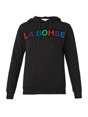 Le Bombe-print hooded sweatshirt