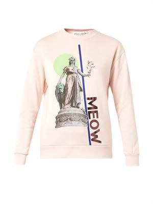 X Laura Brown Meow-print sweatshirt