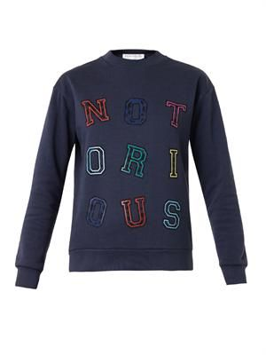 Notorious-print sweatshirt