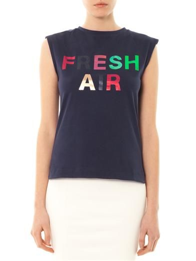 Être Cécile Fresh Air print T-shirt