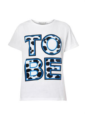To Be-print cotton T-shirt