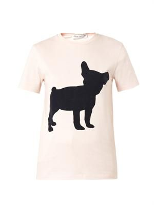 Big Dog-flocked T-shirt