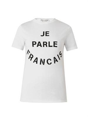 Je Parle Francais-print T-shirt