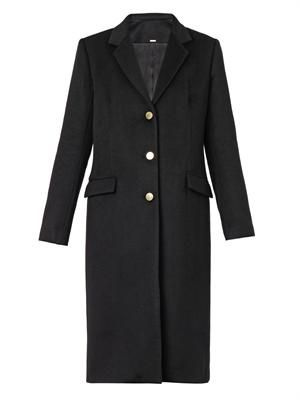 Cashmere-blend tailored coat
