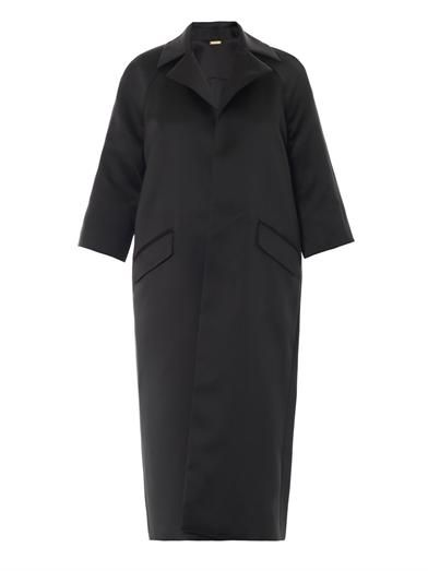 Adam Lippes Oversized satin coat