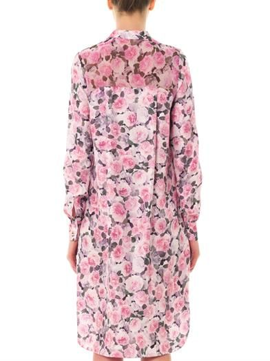 Adam Lippes Rose-print silk dress