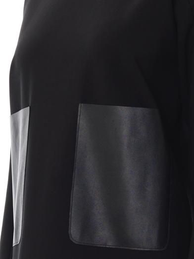 Adam Lippes Leather pocket shift dress